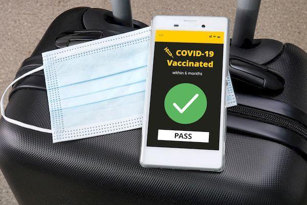 Вакцинные паспорта _Smartphone with digital vaccine pass