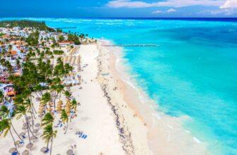 Dominikana 2021 tropical beach with palms dominican republic