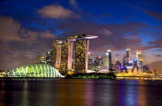 въезд в Сингапур _singapore skyline night