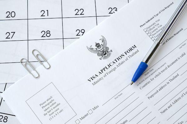 thailand visa application form