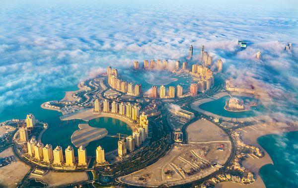 въезд в Катар с 6 октября для россиян _pearl qatar island doha qatar